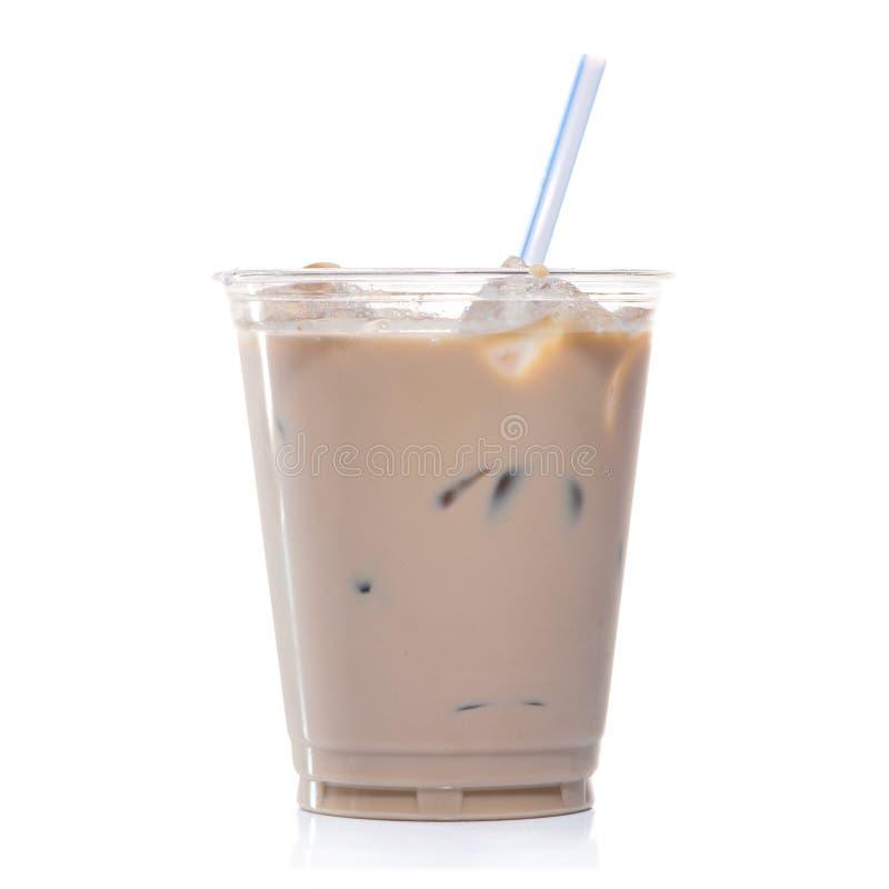 Café glacé dans la tasse en verre photographie stock