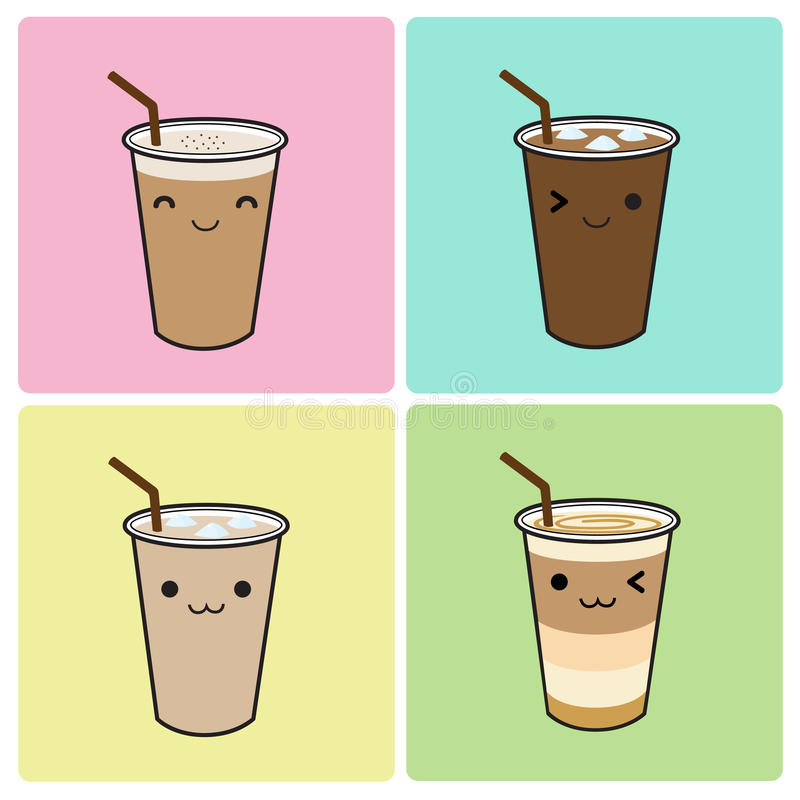 Café helado libre illustration