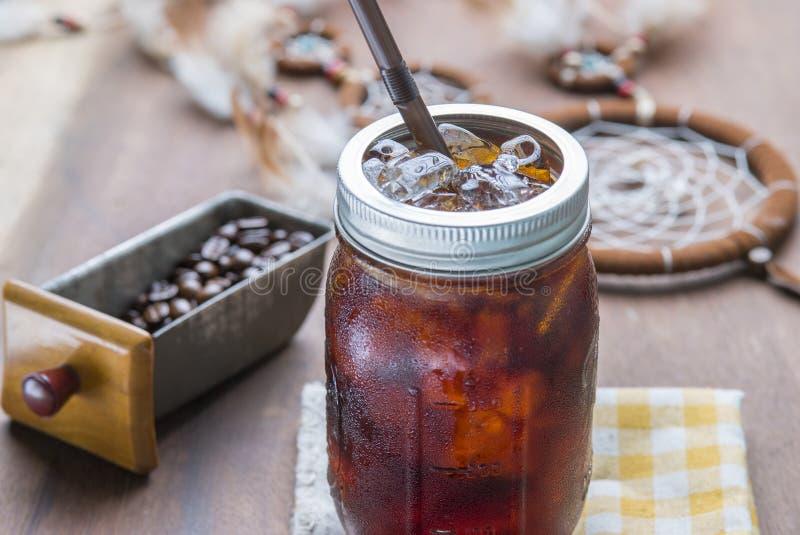 Café helado frío del café express fotos de archivo libres de regalías
