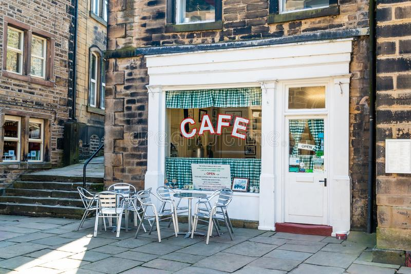 Café Holmfirth huddersfield yorkshire do ` s do Sid foto de stock royalty free