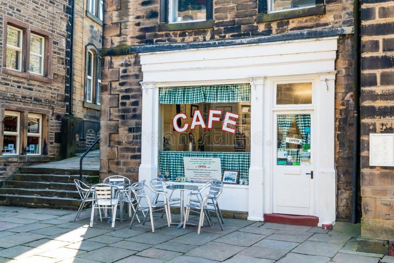 Café Holmfirth Huddersfield Yorkshire du ` s de Sid photo libre de droits