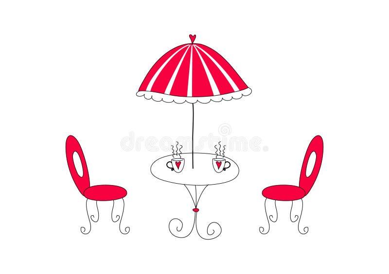 Café. Illustration de vecteur illustration libre de droits