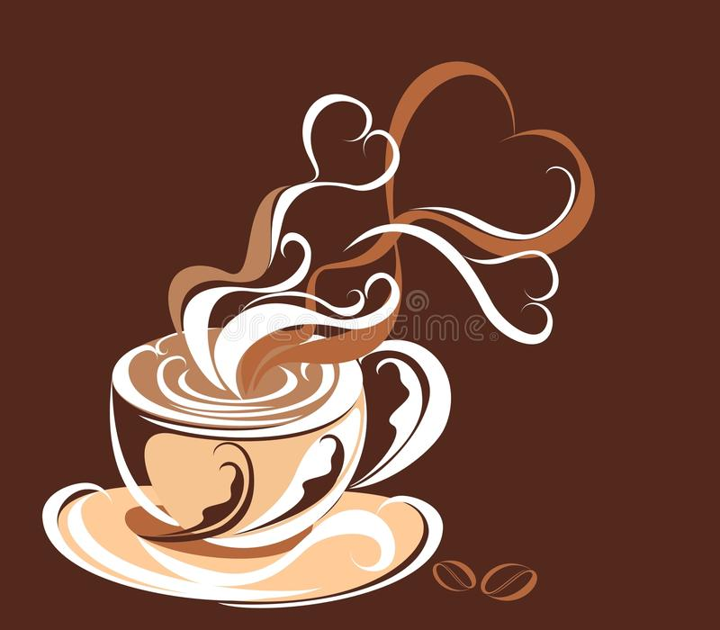 Café. Ilustración del vector   stock de ilustración