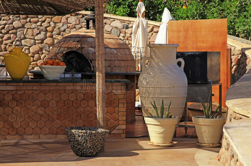 Café im Freien, Ägypten lizenzfreies stockbild