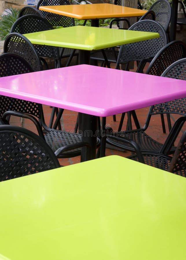 Café im Freien auf San Antonio Riverwalk stockbilder