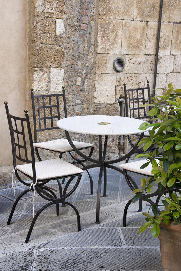 Café im Freien I stockfotos