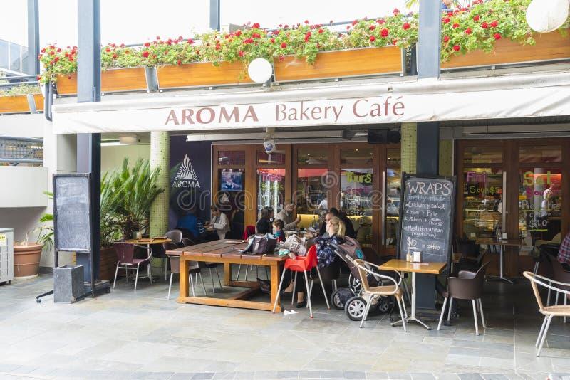 Café im Freien in Melbourne lizenzfreie stockfotografie
