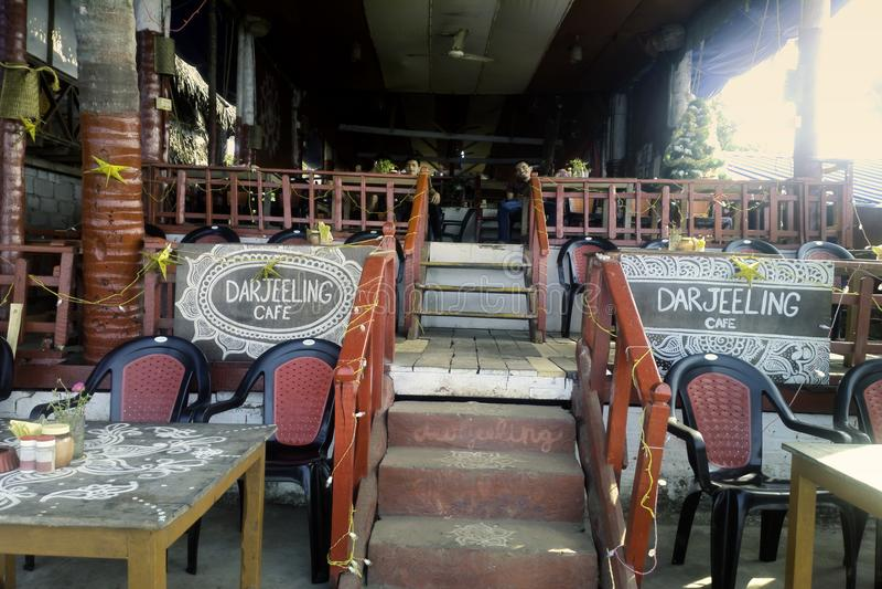 Café indiano Darjeeling em antecipação aos visitantes fotografia de stock royalty free