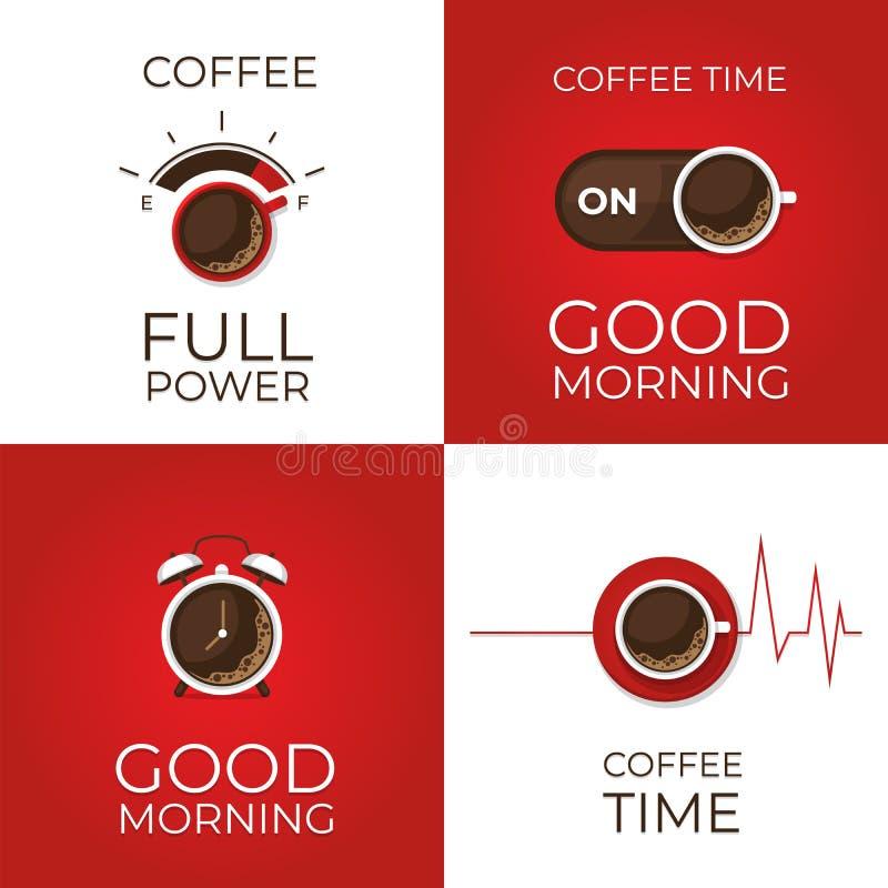 Café infographic Types de café Style plat, illustra de vecteur illustration libre de droits