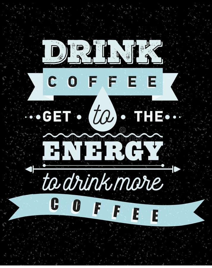 Café inspirado y encouraging stock de ilustración