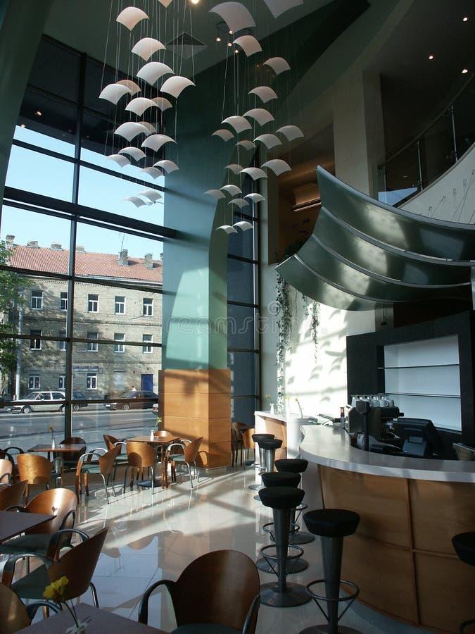 Café interior imagens de stock