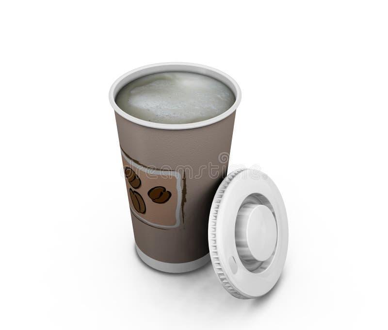 Café a ir stock de ilustración