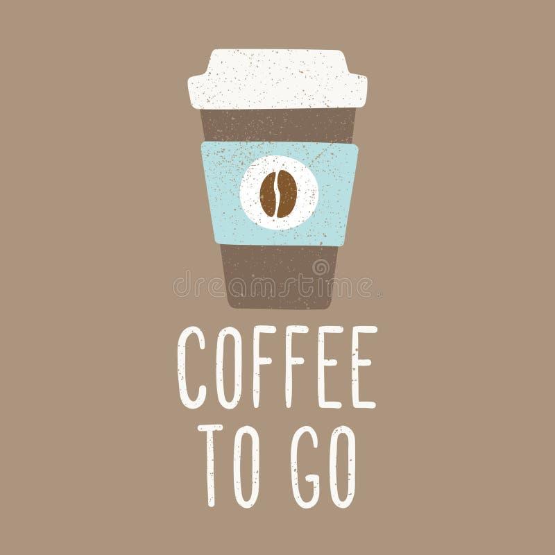 Café a ir ilustração royalty free
