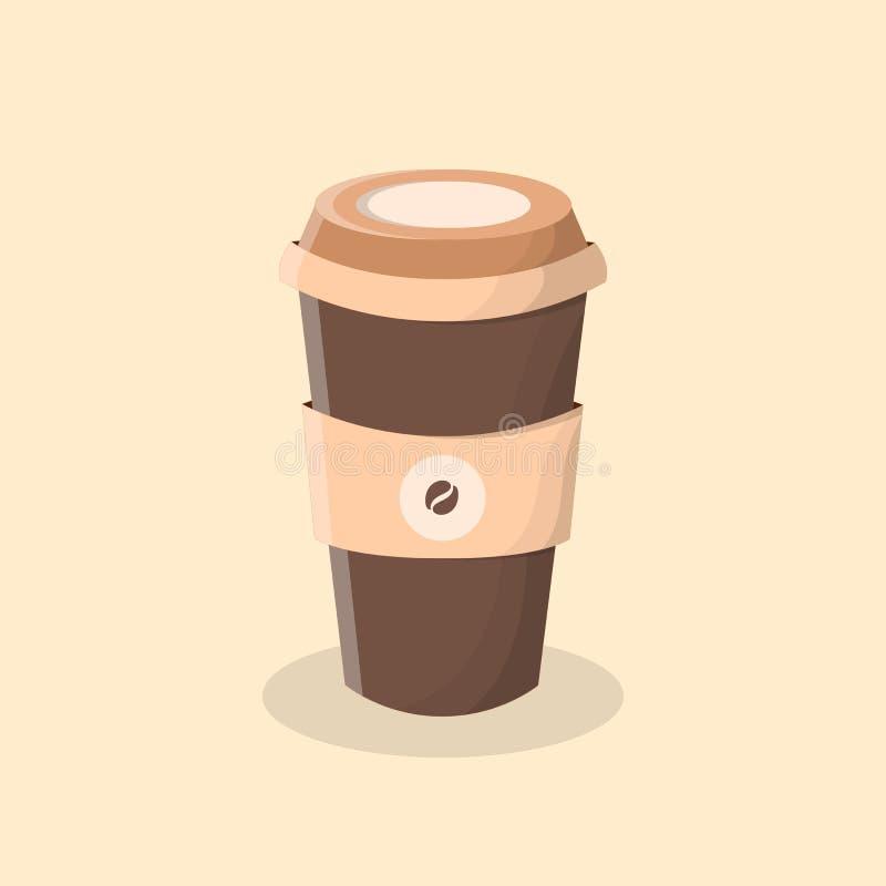 Café a ir Taza de café stock de ilustración