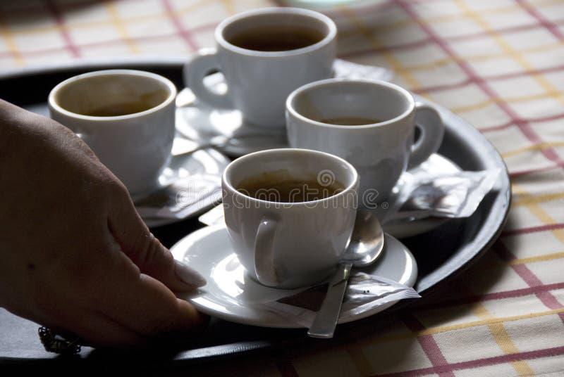 Café italiano de serviço fotos de stock