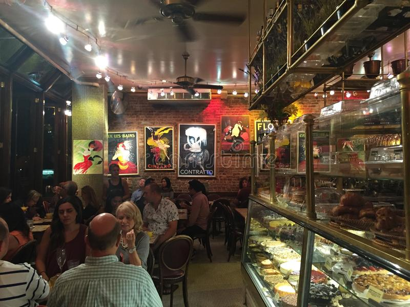 Café Lalo en New York City foto de archivo libre de regalías