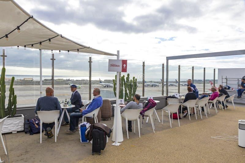 Café in Las Palmas de Gran Canaria -Flughafen stockbilder