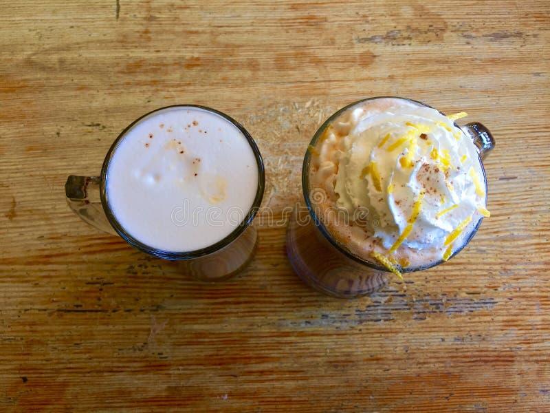 Café - Latte de Havana Latte y de la vainilla foto de archivo libre de regalías