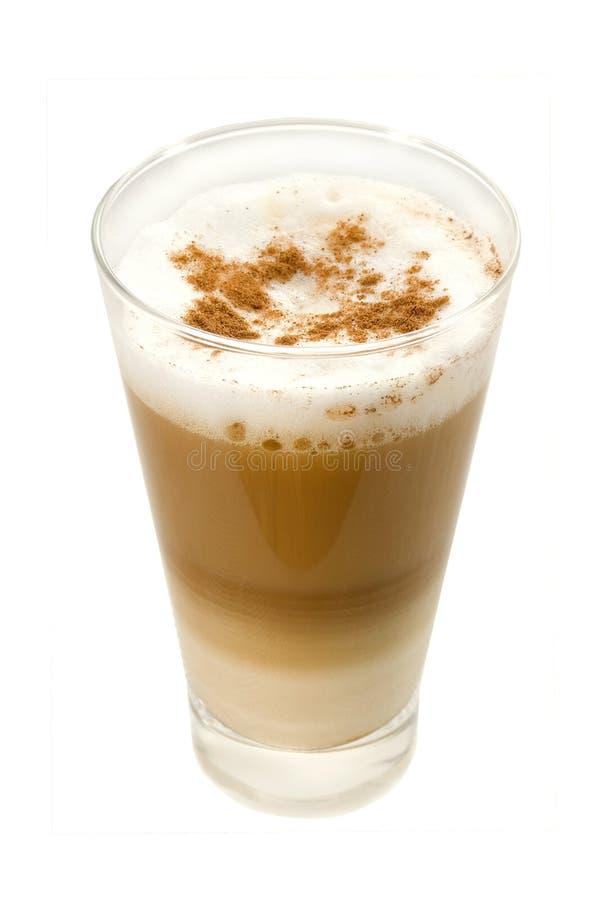 Café Latte en un vidrio fotos de archivo libres de regalías
