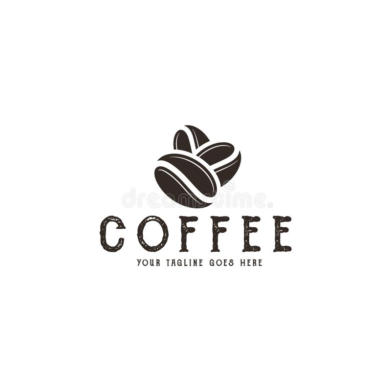Café logo ilustração stock