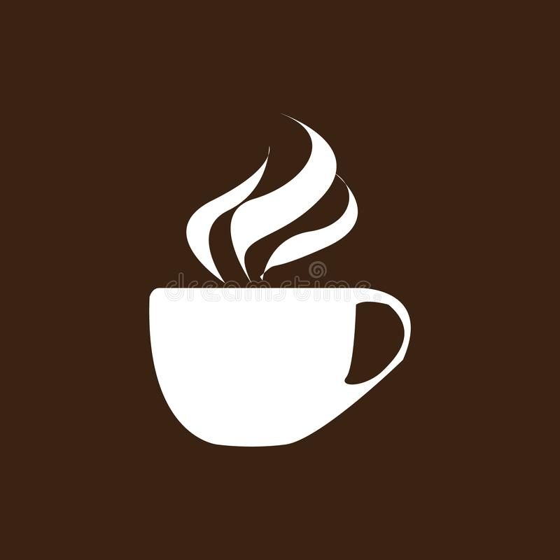 Café Logo Icon Design Template Illustration de vecteur de café de cappuccino illustration de vecteur