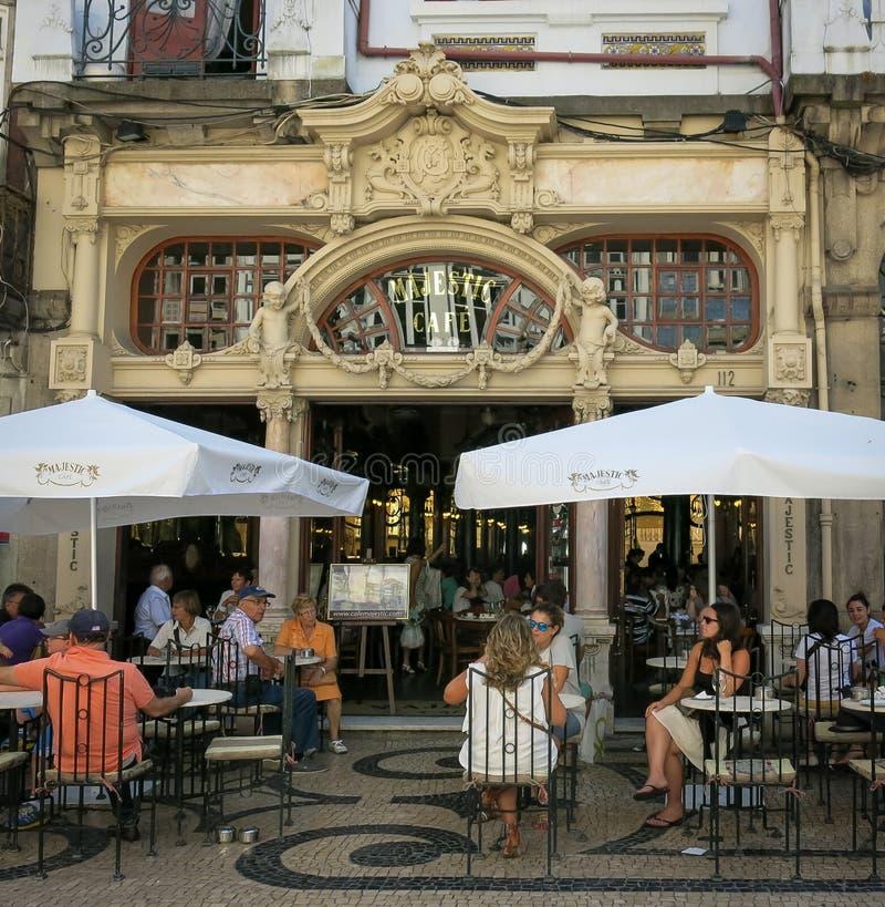 Café majestoso em Porto imagem de stock