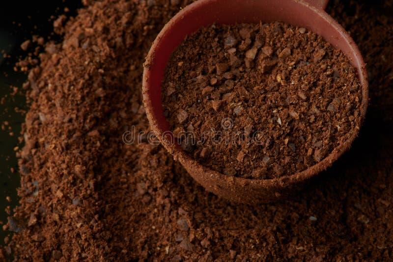 Café marrom moído imagens de stock
