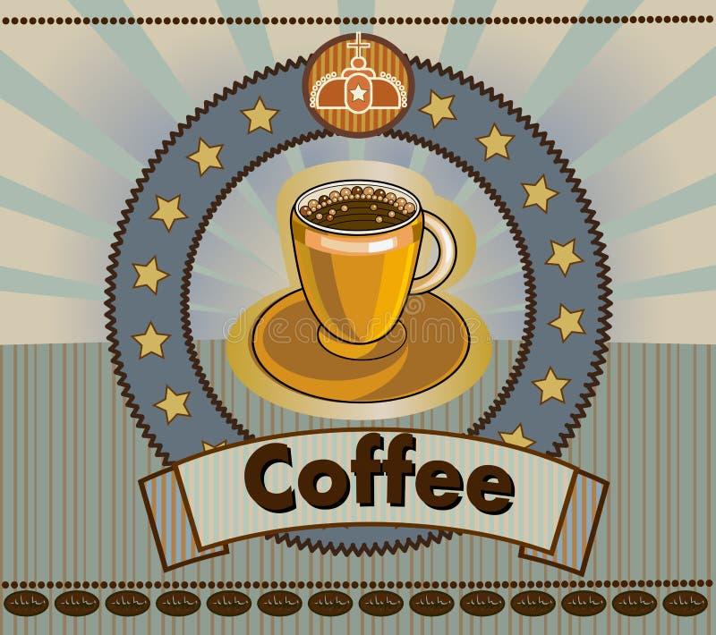 Download Café menú ilustración del vector. Ilustración de grunge - 42440384
