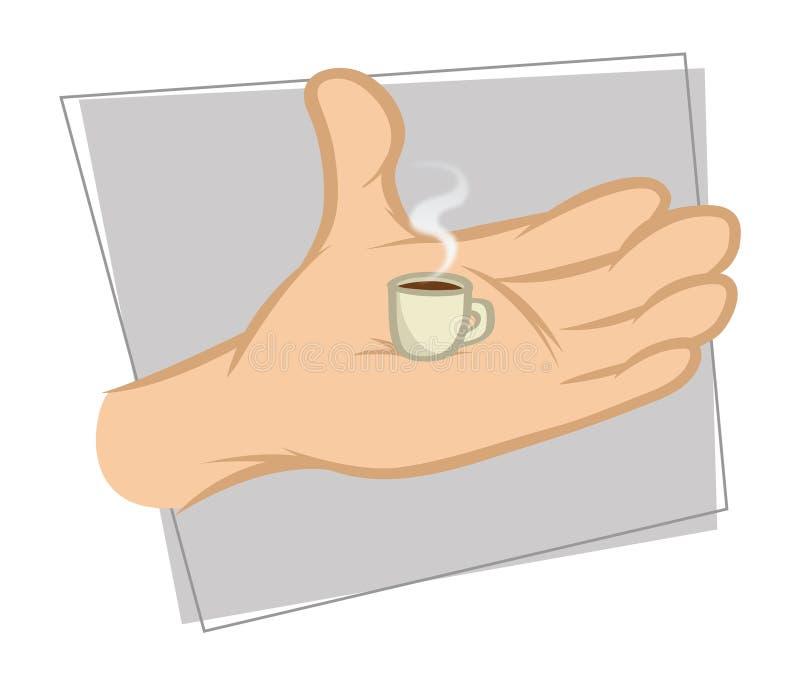 Café minuscule illustration stock