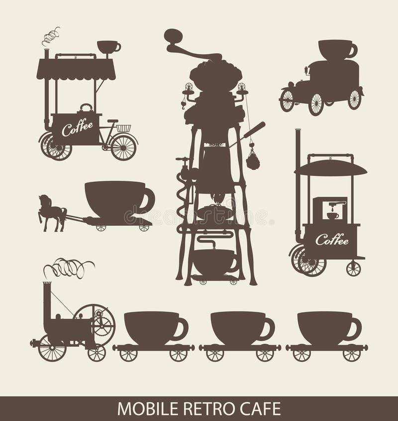 Café mobile illustration stock