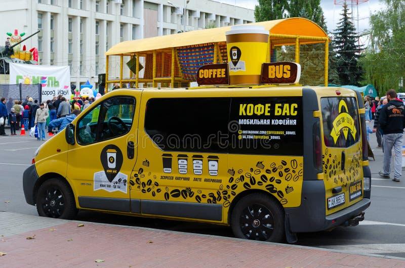 Café mobile sur la rue, Gomel, Belarus images stock