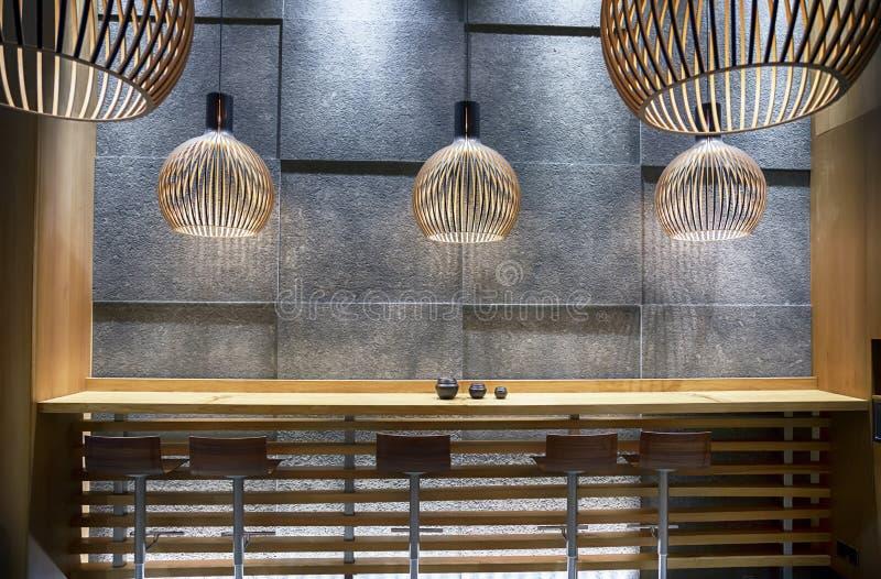 Café moderno da comida rápida fotografia de stock