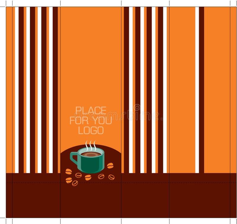 Café-module-concevoir-côté-avec-lignes illustration libre de droits