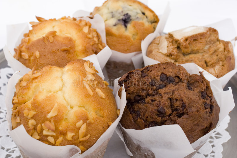 Café Muffins stockfoto