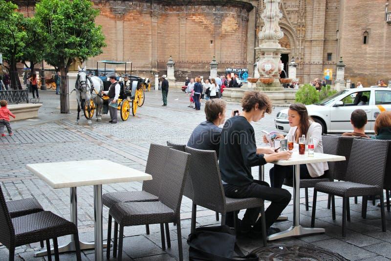 Café na Espanha foto de stock