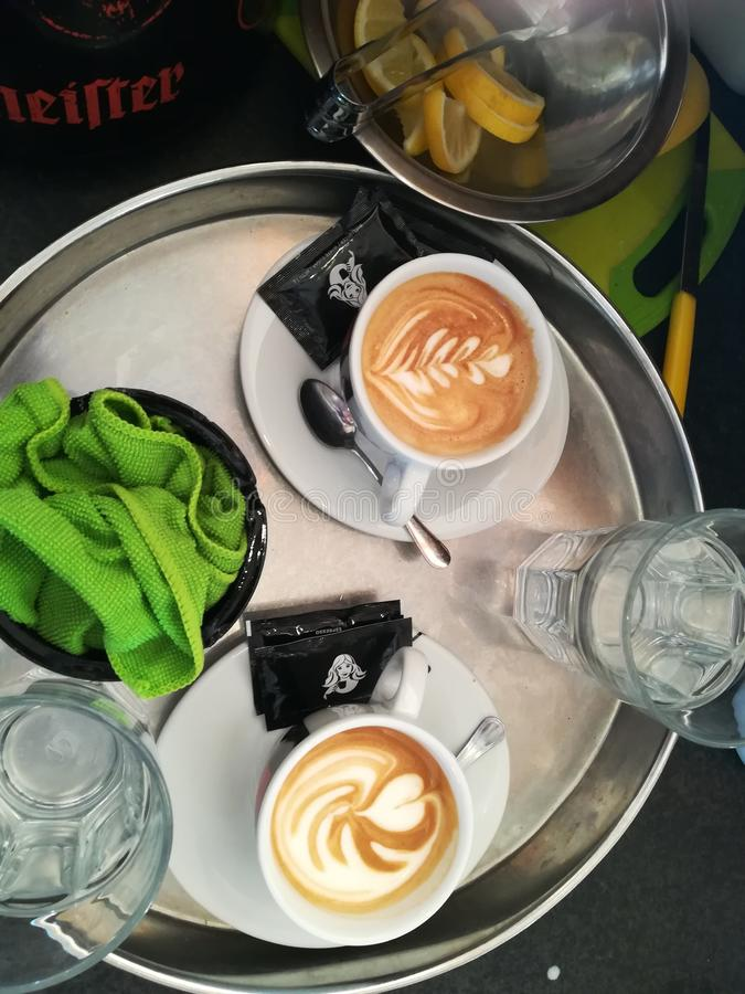 Café na manhã imagens de stock