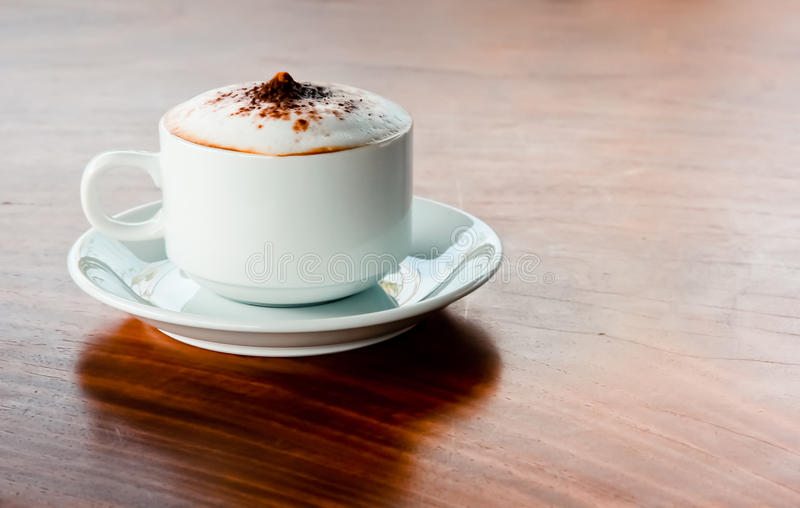 Café na tabela imagem de stock