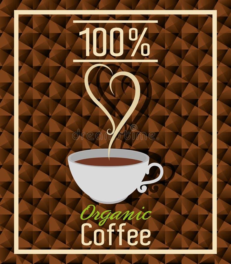 Café natural y orgánico delicioso stock de ilustración