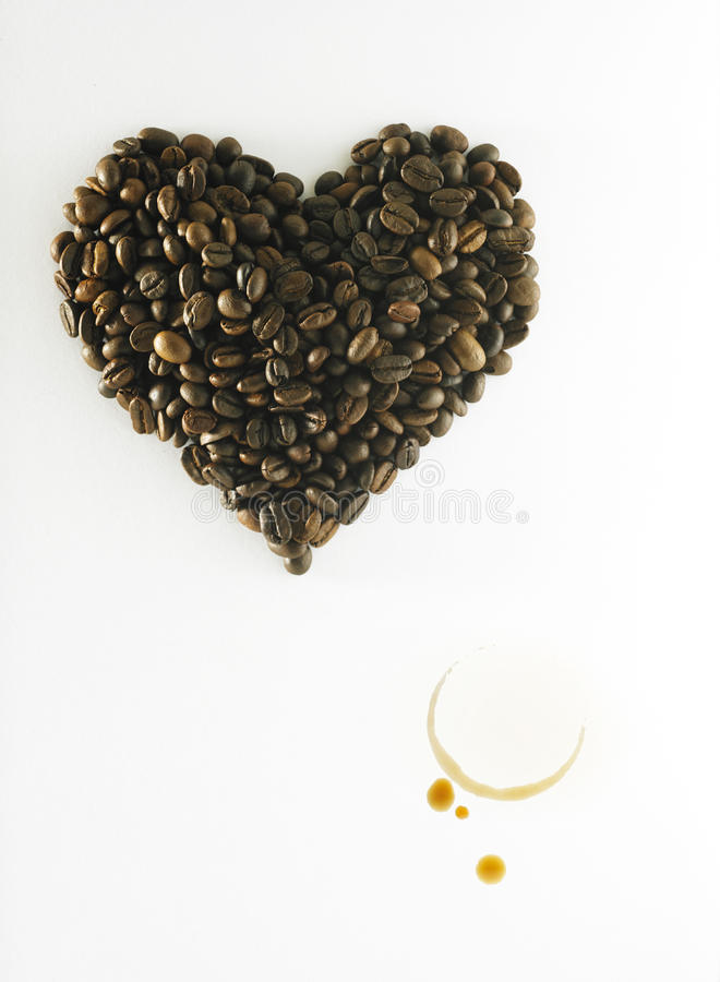 Café no amor foto de stock royalty free