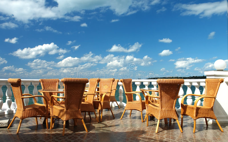 Café no mar imagem de stock royalty free