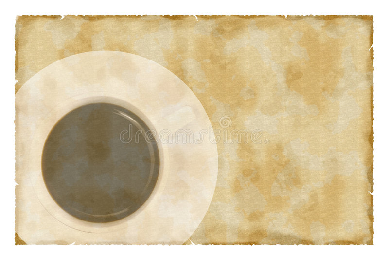 Café no papel do vintage ilustração royalty free