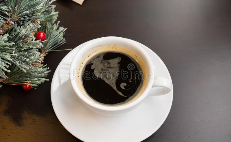 Café noir le jour de célébration photo stock