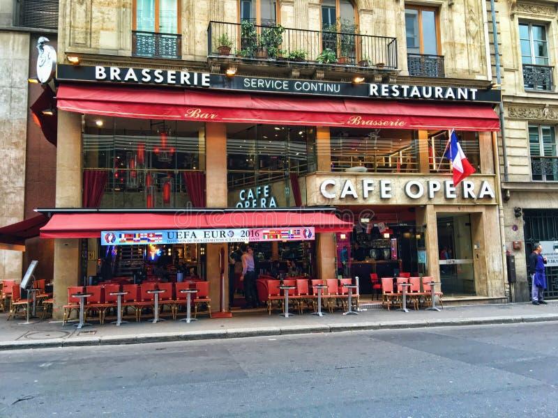 Café Opera Café de l'Opéra Paris imagens de stock