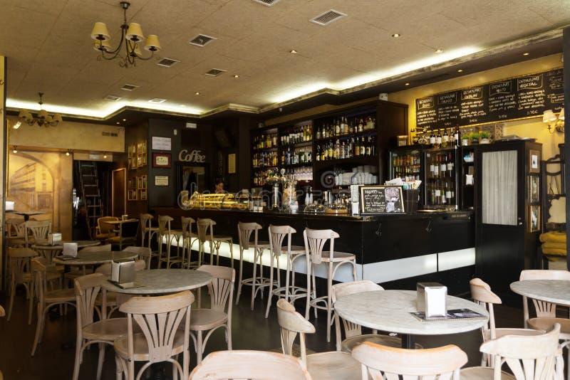 Café ordinário em Logrono, La Rioja imagens de stock