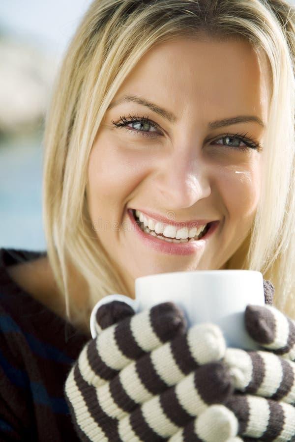 Café ou chá morno imagem de stock