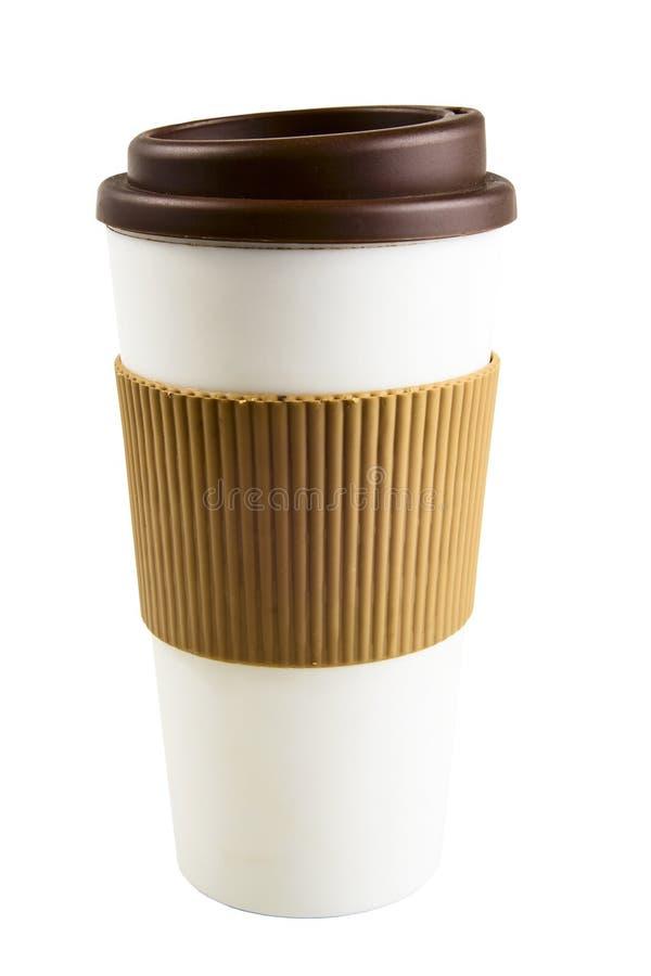 Café para llevar con el sostenedor de taza foto de archivo libre de regalías