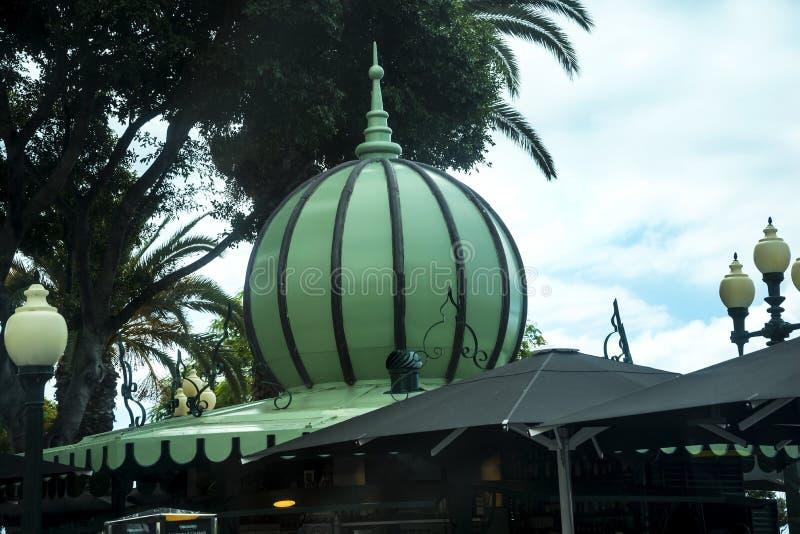 Café-Pavillon auf der Promenade in Funchal Madeira lizenzfreie stockbilder