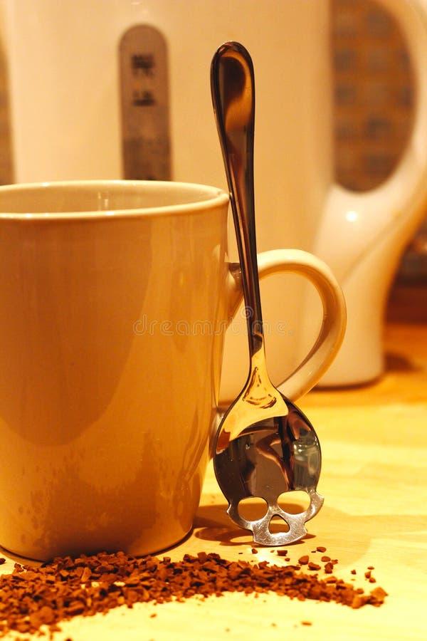 Café peligroso - piense antes de que usted beba imágenes de archivo libres de regalías