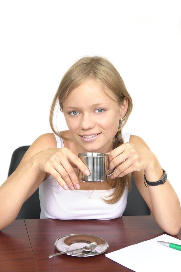 Café potable de fille photos libres de droits