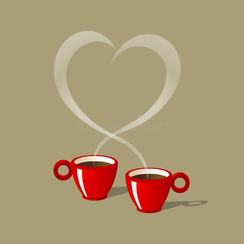 Café pour deux illustration de vecteur